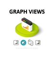 Graph views icon in different style vector image