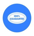 Guarantee label icon in black style isolated on vector image
