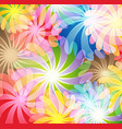 magic flowers vector image