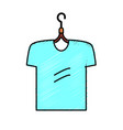 man t-shirt casual design style vector image