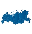 map of the Russian Federation vector image vector image