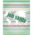 words job skills on digital screen business vector image vector image