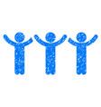 child hands up roundelay grunge icon vector image