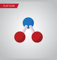 isolated water molecule flat icon nuclear vector image
