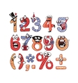 Party Numbers Set vector image vector image