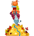 donkey with gifts vector image