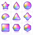 icons buttons rainbow set vector image
