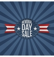 Memorial Day Sale greeting Label vector image