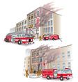 911 Rescue scenarios vector image