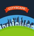 Modern city flat design background vector image vector image