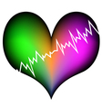 colorful heart attack vector image
