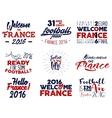 France europe 2016 Football labels Soccer vector image