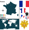 France map world vector image
