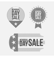 Memorial Day retro Labels Set on white Background vector image