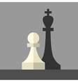 Pawn casting king shadow vector image