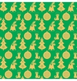 Seamless pattern with Christmas bell with holly a vector image