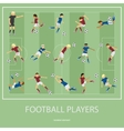 Set of football players vector image