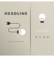 template with light bulbs and wires vector image