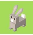 Wild Animal Hare Rabbit Isometric 3d Design vector image