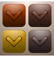 Wooden check marks vector image
