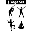 Yoga silhouette set vector image