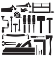 tools carpenter set vector image vector image