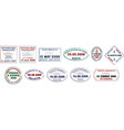 Various ship passport stamps vector image