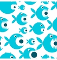 Funny fish cartoon for your design vector image