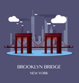 brooklyn bridge new york vector image