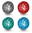 scribble abstract ball vector image vector image