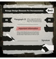 Grunge Design Elements For Documentation Set2 vector image vector image