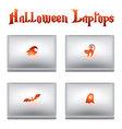 halloween laptops vector image