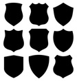 Black modern shields vector image vector image