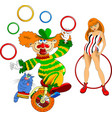 acrobat and clown vector image