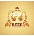 Beer banner vector image