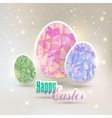 Easter eggs with geometric elements vector image