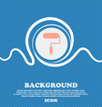 Paint roller sign icon Painting tool symbol Blue vector image