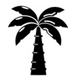 palm icon simple black style vector image