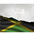 paper with hole and shadows JAMAICA flag vector image