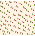 red berry and green leaf vector image