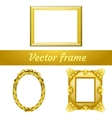 Set of three gold frame for your design needs vector image