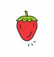 strawberry icon vector image