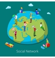 Isometric Global People Communication Concept vector image