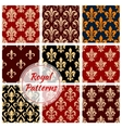 Royal floral decoration pattern backgrounds vector image