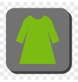 Woman Dress Rounded Square Button vector image
