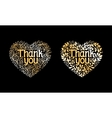 Thank You Golden Label vector image