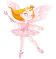 Cute fairy ballerina vector image