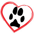 Dogs paw vector image