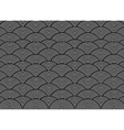 black and white wave pattern vector image