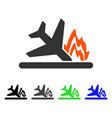 airplane crash flat icon vector image